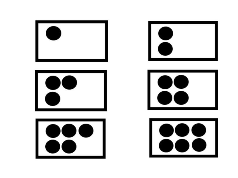 getalbeelden tot 6 : kleurenmonster by Kleuterjuffen Veeweide