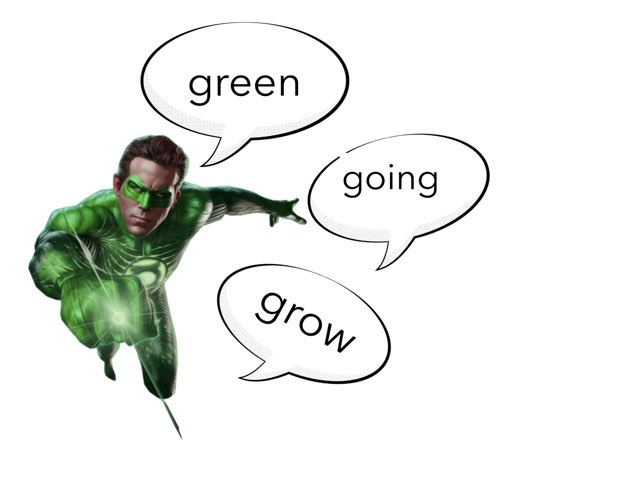 green lantern sight word by Justin Brooksby