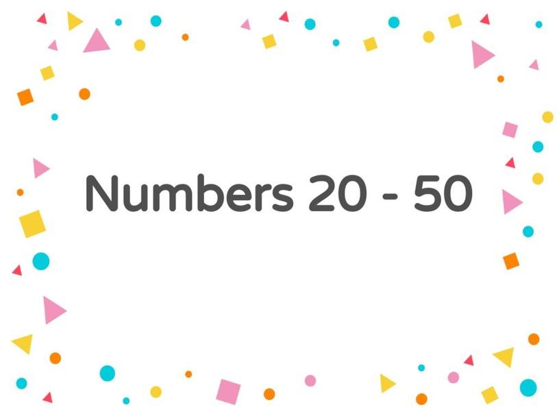 numbers 20 -50 by Abood Al Ali