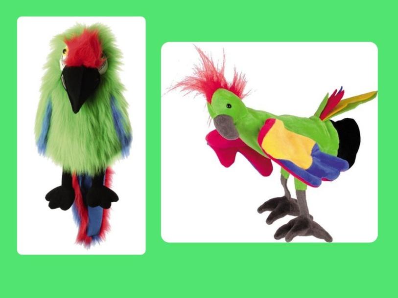 papegaai geeloog en Luki by Juf ALISHA