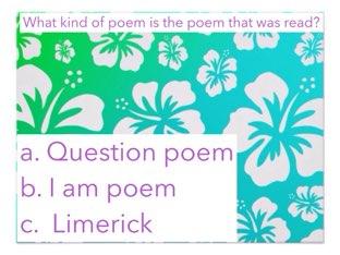 poem Quiz Game by gwyndalynnn goodrich