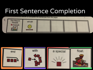 sentence completion by Sam R