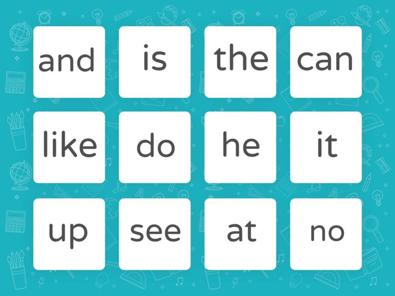 sight word list 1 by TinyTap creator