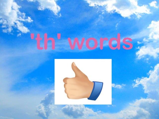 'th' Words by Jen Siddons