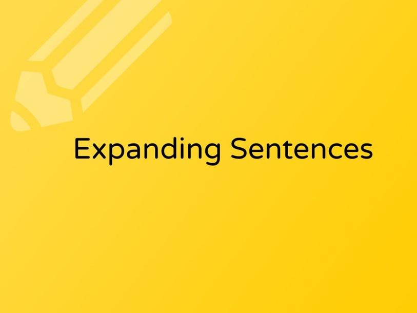 Expanding sentences by Karla Zapata