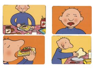 volgorde verhaal Jules heeft honger by Elke Fioole