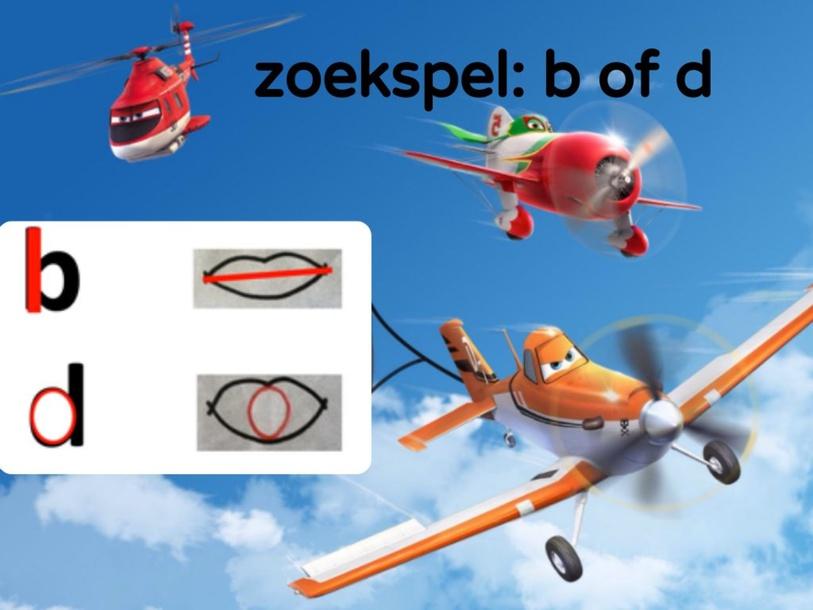 zoekspel: b of d by juf Veerle